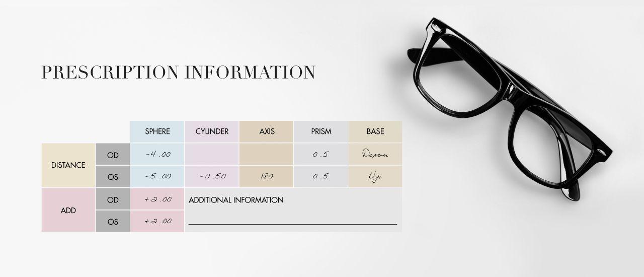 Glassesgallery lens info image - Prescription information