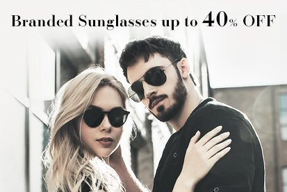Sunglasses at up to 40% Off